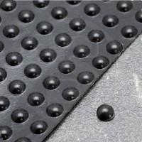 Gommini autoadesivi paraurti emisferici diametro 6,4mm neri