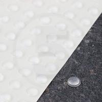 Gommini autoadesivi paraurti emisferici diametro 6,4mm trasparenti