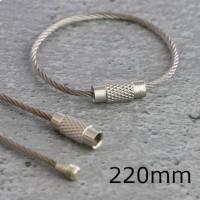 Anelli in filo d'acciaio con chiusura a vite, lunghezza 220mm