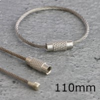 Anelli in filo d'acciaio con chiusura a vite, lunghezza 110mm