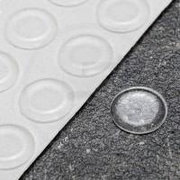 Gommini autoadesivi paraurti piatti diametro 19mm trasparenti