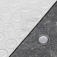 Gommini autoadesivi paraurti piatti diametro 12,7mm trasparenti