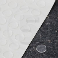 Gommini autoadesivi paraurti piatti diametro 8mm trasparenti