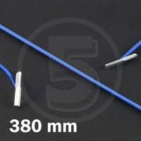 Cordino elastico rotondo con terminali in metallo, lunghezza 380mm, Blu medio