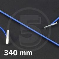 Cordino elastico rotondo con terminali in metallo, lunghezza 340mm, Blu medio
