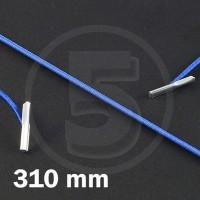 Cordino elastico rotondo con terminali in metallo, lunghezza 310mm, Blu medio