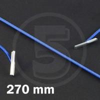 Cordino elastico rotondo con terminali in metallo, lunghezza 270mm, Blu medio