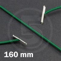 Cordino elastico rotondo con terminali in metallo, lunghezza 160mm, Verde