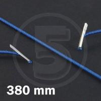 Cordino elastico rotondo con terminali in metallo, lunghezza 380mm, Blu scuro