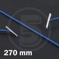Cordino elastico rotondo con terminali in metallo, lunghezza 270mm, Blu scuro