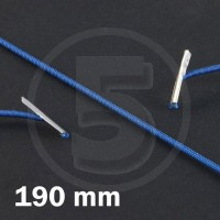 Cordino elastico rotondo con terminali in metallo, lunghezza 190mm, Blu scuro