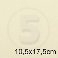 Biglietto in carta ACQUERELLO AVORIO formato 10,5x17,5cm 160gr