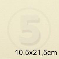 Biglietto in carta ACQUERELLO AVORIO formato 10,5x21,5cm 200gr