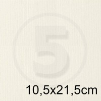 Biglietto in carta ACQUERELLO BIANCO formato 10,5x21,5cm 200gr