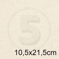 Biglietto in carta FLORA AVORIO formato 10,5x21,5cm 130gr