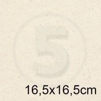 Cartoncino doppio FLORA AVORIO 16,5x16,5 240gr