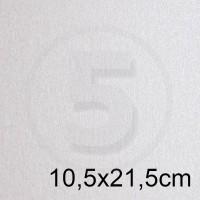 Biglietto in carta PEARL BIANCO perlescente formato 10,5x21,5cm 125gr