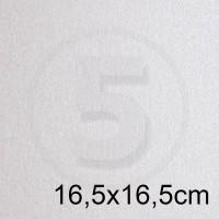 Cartoncino doppio PEARL BIANCO perlescente 16,5x16,5 230gr