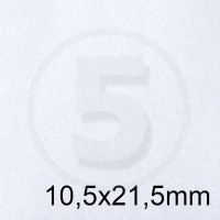 Biglietto in carta PERGAMENA BIANCO formato 10,5x21,5cm 160gr