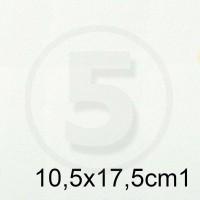 Biglietto in carta TINTORETTO BIANCO formato 10,5x17,5cm 200gr