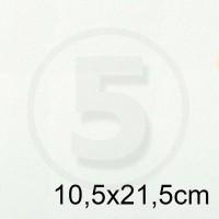 Biglietto in carta TINTORETTO BIANCO formato 10,5x21,5cm 140gr