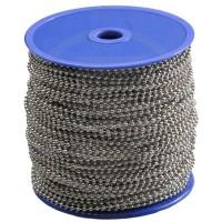 Catenella a pallini in bobina, diametro sfera 1,5mm, nichelata