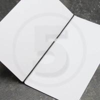 Elastico per legatoria chiuso ad anello, lunghezza aperta 410 mm, Nero