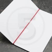 Elastico per legatoria chiuso ad anello, lunghezza aperta 410 mm, Rosso