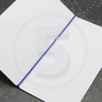 Elastico per legatoria chiuso ad anello, lunghezza aperta 410 mm, Blu