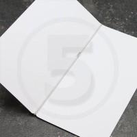Elastico per legatoria chiuso ad anello, lunghezza aperta 580 mm, Bianco