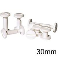 Viti sepolte in plastica bianca, lunghezza utile 30mm