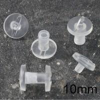 Viti sepolte in plastica Trasparente, lunghezza utile 10mm