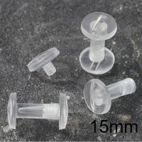 Viti sepolte in plastica Trasparente, lunghezza utile 15mm