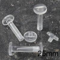 Viti sepolte in plastica Trasparente, lunghezza utile 25mm
