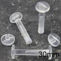 Viti sepolte in plastica Trasparente, lunghezza utile 30mm