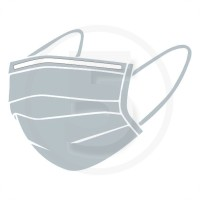 Ponti nasali - clip per mascherine 160x4 mm verniciati Bianco