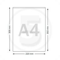 Tasche rettangolari formato A4 autoadesive, aperte lato corto, trasparenti