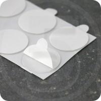 Bollini biadesivi in schiuma acrilica trasparente, diametro 30 mm