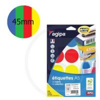 Bollini adesivi rotondi Colori Assortiti, diametro 45mm