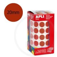 Etichette adesive rotonde color Marrone. Bollini tondi diametro 20mm
