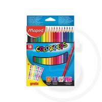 Pastelli colorati x 18 + etichette