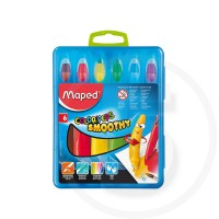 Pastelli gel acquarellabili smoothy colorpeps in plast box x6