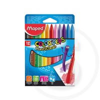 Pastelli in plastica colorpeps plasticlean in box x12 col ass
