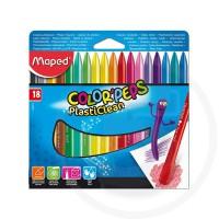 Pastelli in plastica colorpeps plasticlean in box x18 col ass