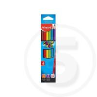 Pastelli triangolari colorpeps in scatola da 6 pz mina grande infrangibile 2,9 mm