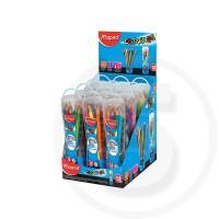 Pastelli triangolari colorpeps in squeezy tube da 12 pz in display da banco