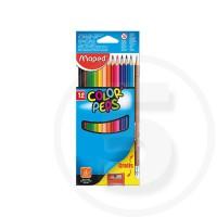 Pastelli triangolari colorpeps x12 + 1 matita grafite + 1 temperino - in box