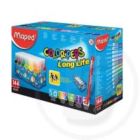 Pennarelli 144 pz colorpeps long life ultra lavabili in box verticale da tavolo (schoolpack)