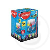 Pennarelli 72 pz colorpeps long life ultra lavabili in box verticale da tavolo (schoolpack)