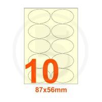 Etichette autoadesive 87x56mm, in carta avorio vergata
